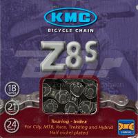 Cadena KMC Z-8S 116 Pasos Index 6V/7V/8V Color cromo/gris