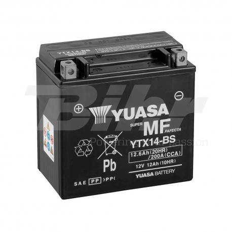 Batería Yuasa YTX14-BS Combipack (con electrolito)