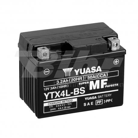 Batería Yuasa YTX4L-BS Combipack (con electrolito)