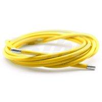 Funda cable acero laminado Ø5 amarillo 2m