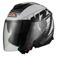 CASCO JET NZI AVENEW 2 DUO GRAPHICS PROVA WHITE BLACK