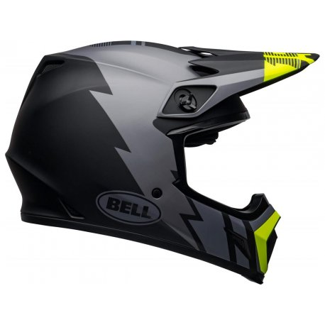 Casco cross Bell MX-9 Mips Gris Mate Negro Hi-Viz