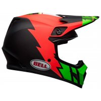 Casco Cross Bell MX-9 MIPS Strike Rojo/Verde/Negro