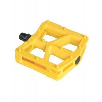 "PEDALES BMX NYLON AMARILLO 9/16"" 110X100MM UNION"