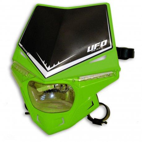 Careta Portafaro UFO Homologada Stealth Verde