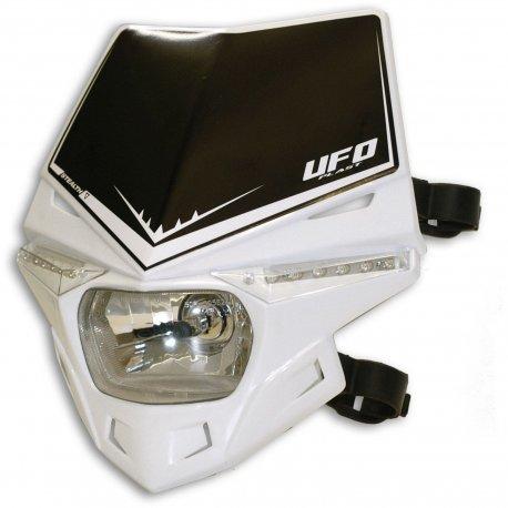 Careta Portafaro UFO Homologada Stealth Blanco