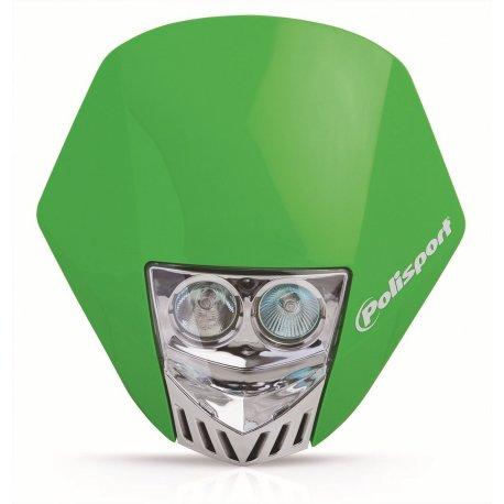 Careta Polisport HMX LED verde