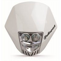 Careta Polisport HMX LED Blanco