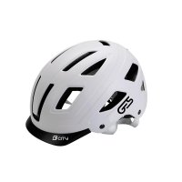 Casco ges city blanco injected thermoplastic luz 6 leds/ 3 funciones