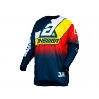 Camiseta Answer ELITE KORZA Azul Oscuro/Blanco/Amarillo/Rojo