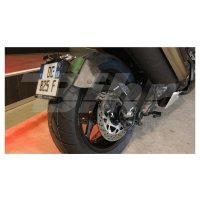 Portamatrículas a la rueda Yamaha TMAX 530 (12-18) negro