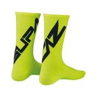 Par calcetines supacaz supasox twisted amarillo neon